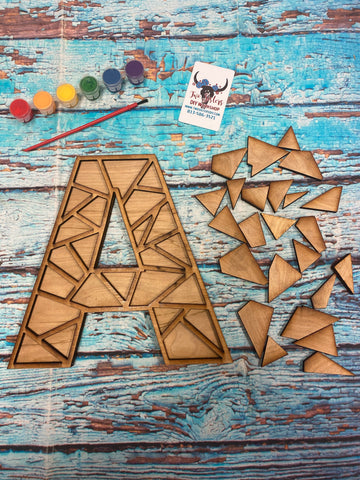 RTS - DIY Geometric Letter kit