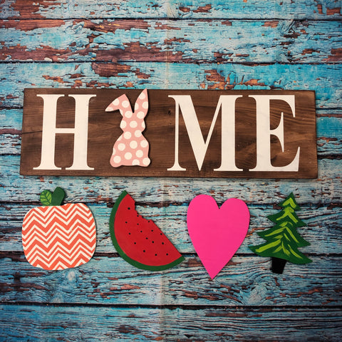 "Sign Design - ""Home"" Interchangeable Sign"