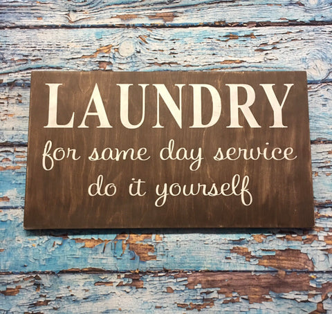 SIGN Design - Laundry Same Day Service