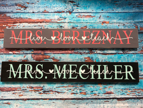 SIGN Design - Teacher Love