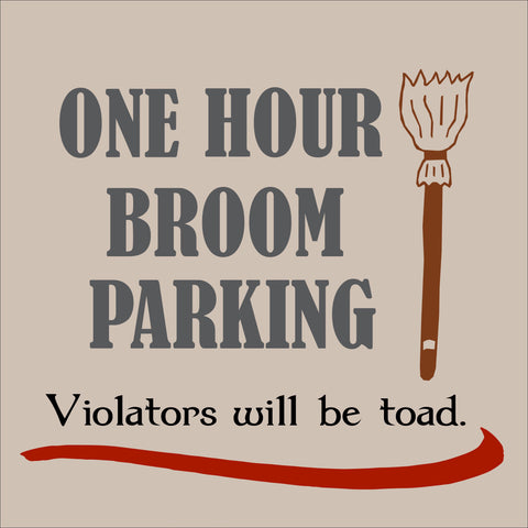 SIGN Design - Halloween - Broom Parking