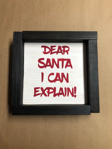 SIGN Design - Christmas - Dear Santa