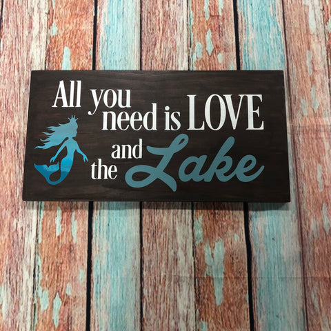 SIGN Design - All you Need is Love and the Lake