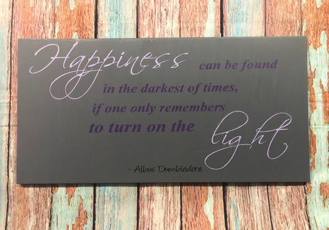 SIGN Design - Happiness - Harry Potter