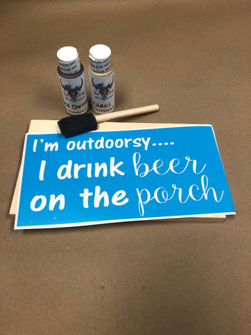 RTS - Ready To Ship - Outdoorsy beer DIY kit