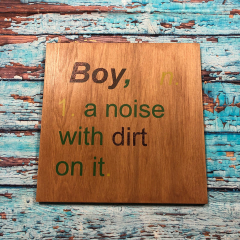 SIGN DESIGN - Boy Dictionary