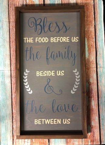 SIGN Design - Bless the Food Before Us