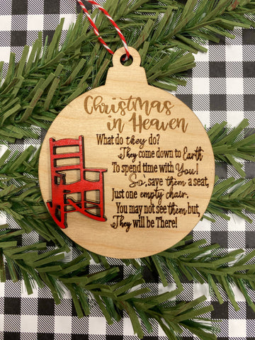 RTS - Memorial chair Christmas ornament