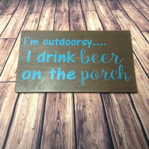 SIGN DESIGN - Outdoorsy - Beer