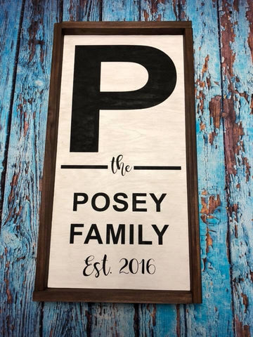SIGN Design - Family Name Sign