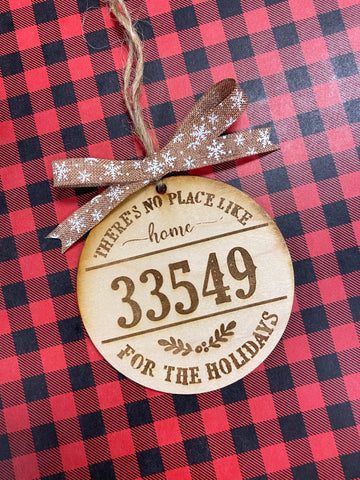 RTS - Zip code Christmas ornament