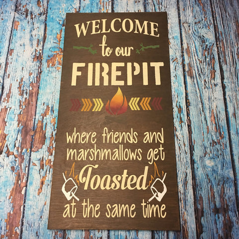 SIGN DESIGN - Firepit/Bonfire