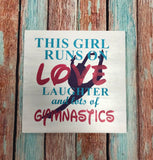 SIGN Design - Gymnast - Love, Laughter and Gymnastics