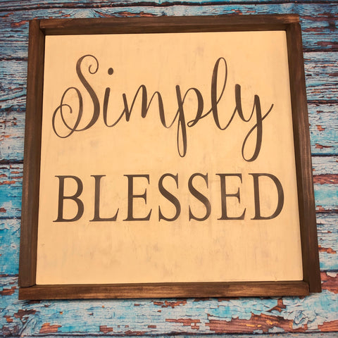 SIGN Design - Simply blessed