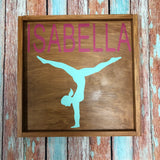 SIGN Design - Gymnast Personalized