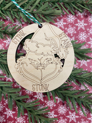 RTS - Grinch Christmas ornament