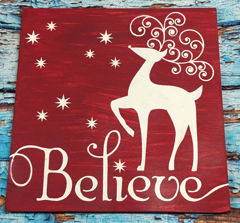 SIGN Design - Christmas - Believe