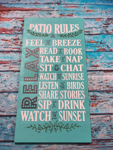 SIGN Design - Patio Rules