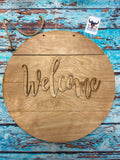 Sign Design - 3D Round Welcome Sign