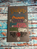 SIGN DESIGN - Christmas - Reindeer Names