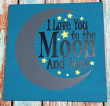 SIGN Design - Love you to the moon
