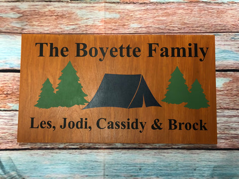 SIGN Design - Camping Family Personalized