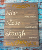 SIGN Design - Live Laugh Love