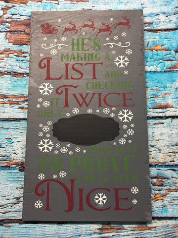 SIGN Design - Christmas - He Is Making A List - Countown