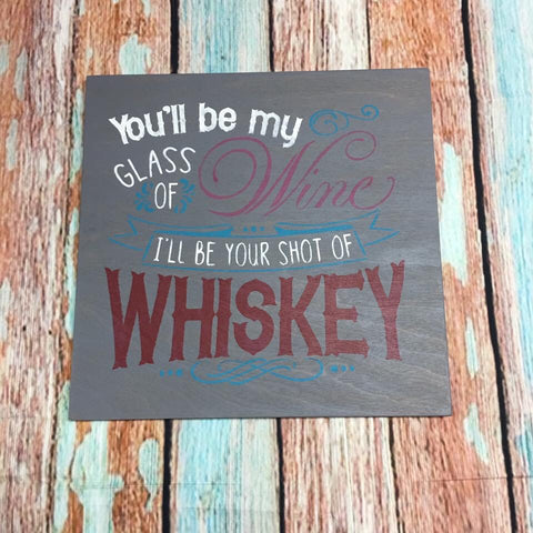 Sign Design - Glass of wine shot of whiskey
