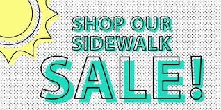 08/08 Saturday 10-3pm Summer Sidewalk Sale - No Public Workshops