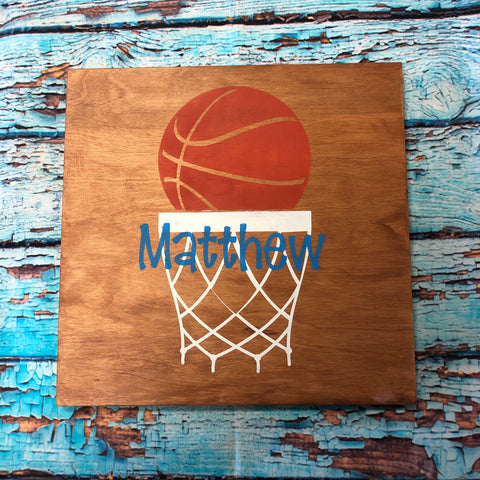 SIGN Design - Basketball and Net