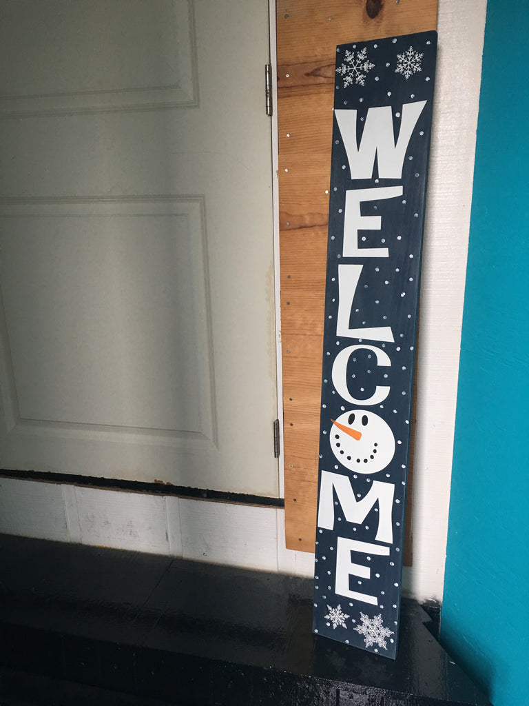 Sign Design - Christmas - Porch Sign - Welcome Snowman ...