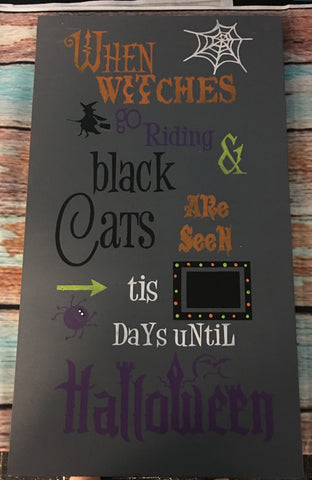 SIGN DESIGN - Halloween Countdown
