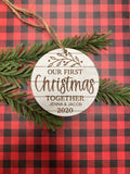 RTS - First Christmas together ornament