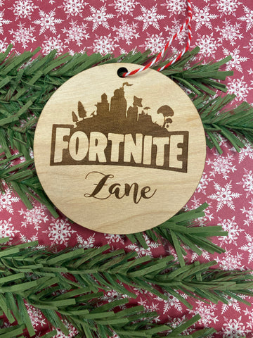 RTS - Custom gamer Christmas ornament
