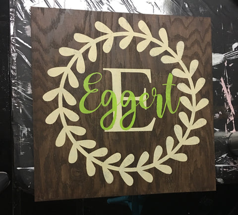 SIGN DESIGN - Family Name Wreath