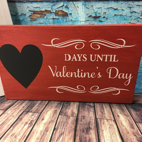 SIGN Design - Days until Valentines Day