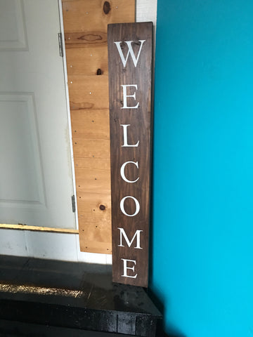 Sign Design - Porch Sign - Welcome with O Designs