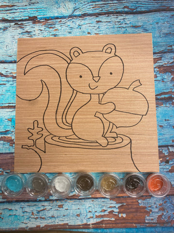 RTS - Paint at Home Kit - Nutty Squirrel