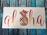SIGN Design - Aloha with pineapple