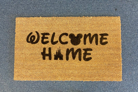 SIGN Design - Door Mat - Welcome Home Disney