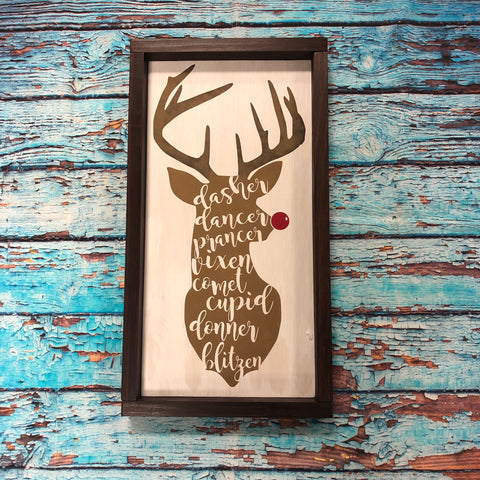SIGN Design - Christmas - Reindeer names 2