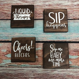 RTS - Ready To Ship - Coasters set of 4