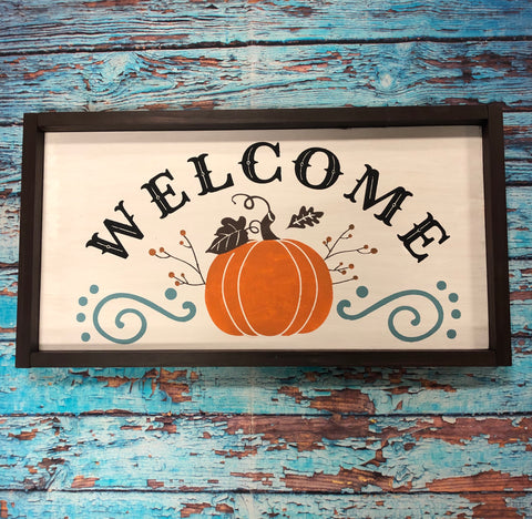 SIGN Design - Welcome Pumpkin