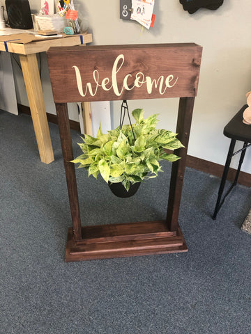 Sign Design - Porch plant holder
