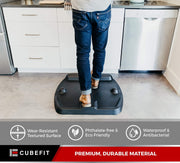 CubeFit Standing Desk Terramat - Anti Fatigue Floor Mat with Ergonomic Design, Extra Comfort for Stand Up Desk and Home Office