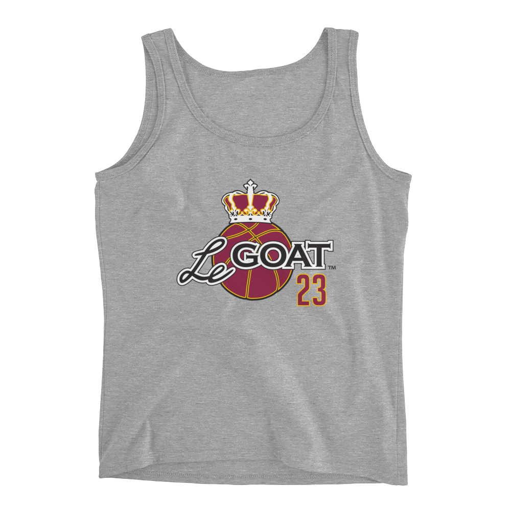 Women's LeGOAT Grey Logo Tank - Gold/Burgundy