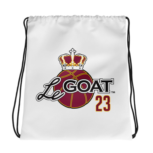 LeGOAT Drawstring Gym Bag - Gold/Burgundy