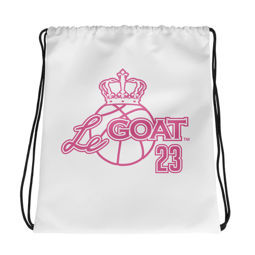 LeGOAT Drawstring Gym Bag - Pink