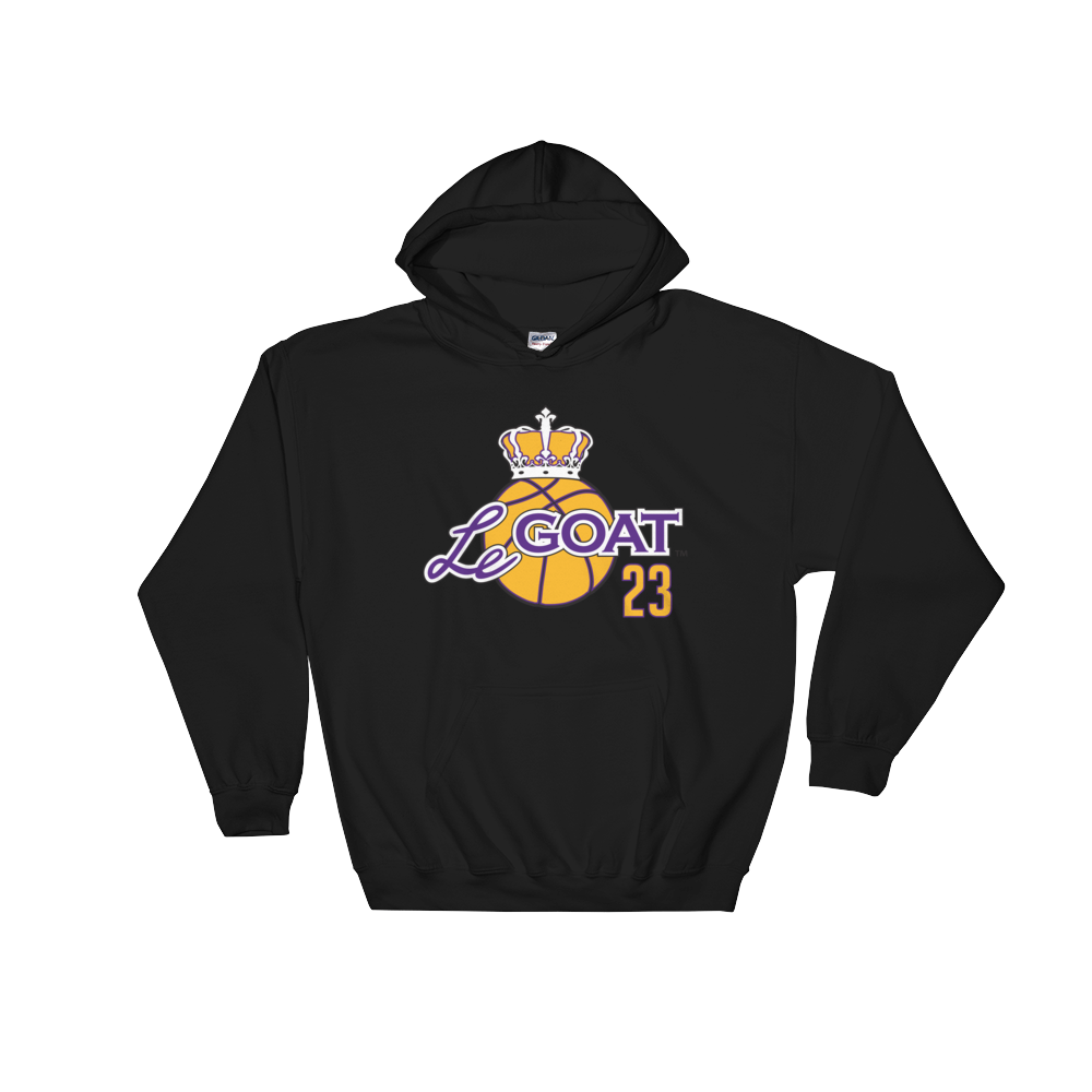 Men's LeGOAT Black Hoodie - Purple/Yellow